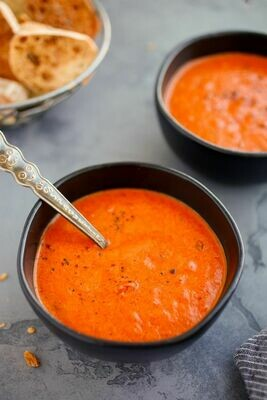 Roasted Red Pepper Tomato Bisque