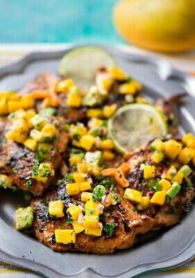 Jamaican Jerk Chicken w/Tropical Salsa - GF