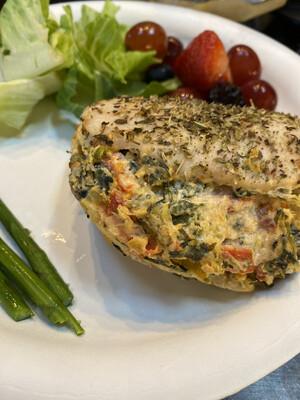 Sundried Tomato Spinach Artichoke Stuffed Chicken Breasts - GF