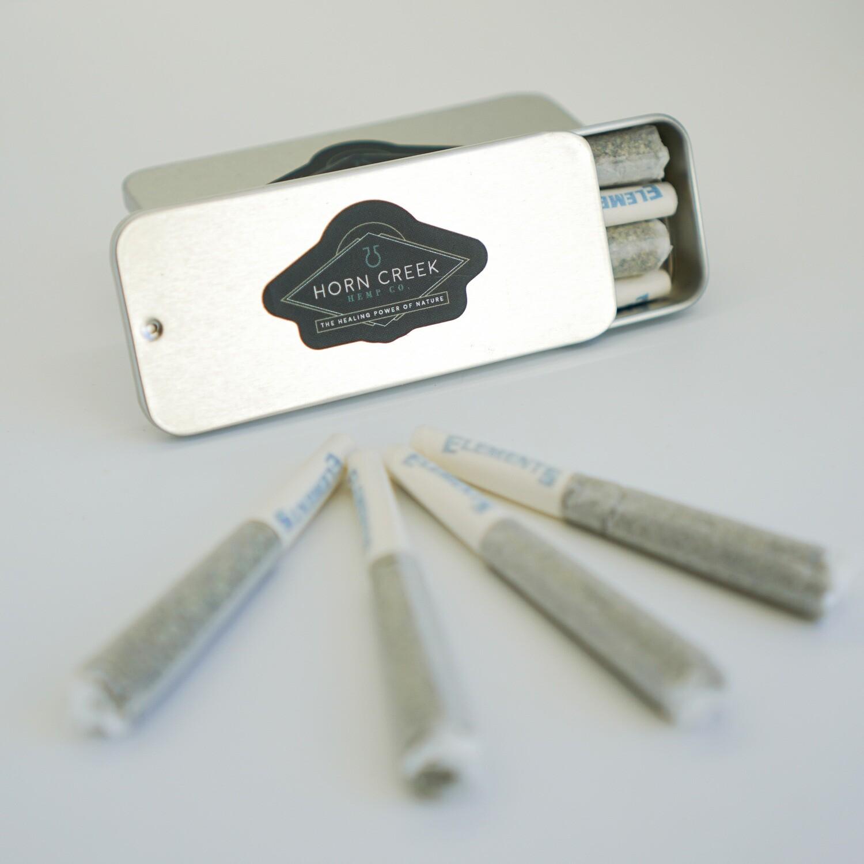 Hemp Flower Pre-rolls- 4 Pack (1/2 Gram Each)