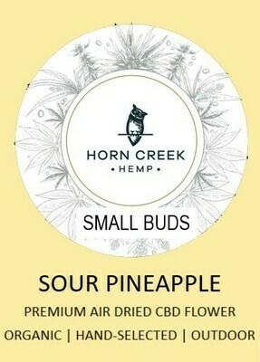 Sour Pineapple Hemp Flower- Small Buds