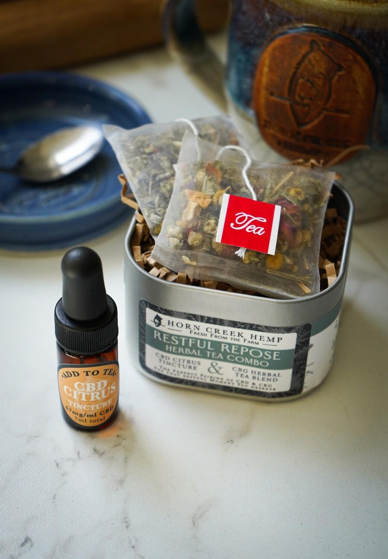 Restful Repose CBG Herbal Tea Combo