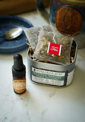 Restful Repose CBG Herbal Tea & Tincture Combo
