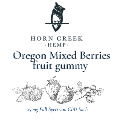 CBD Gummies   25mg Full Spectrum   Oregon Mixed Berries