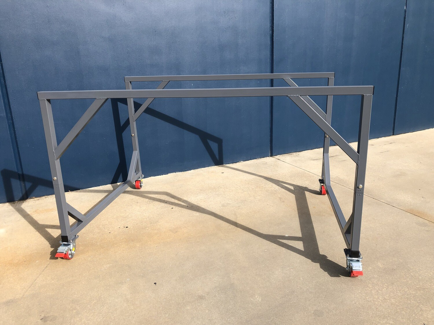 Portable double deck trolley