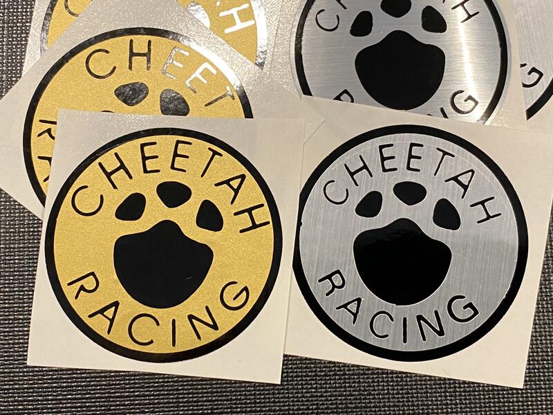 Cheetah Racing Badge Sticker