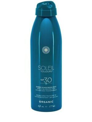 Organic Sheer Sunscreen Mist SPF 30
