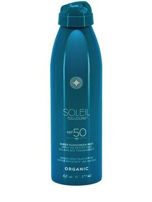 Organic Sheer Sunscreen SPF 50