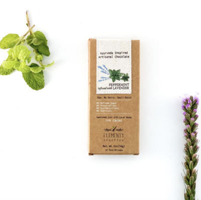 Peppermint & Lavender Ayurveda Inspired Chocolate Bar
