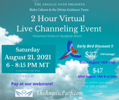 Live Channeling Event - Virtual - Aug 21 2021