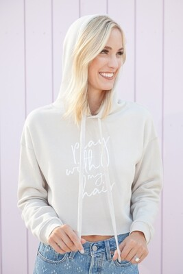 Play With My Hair Cropped Hoodie