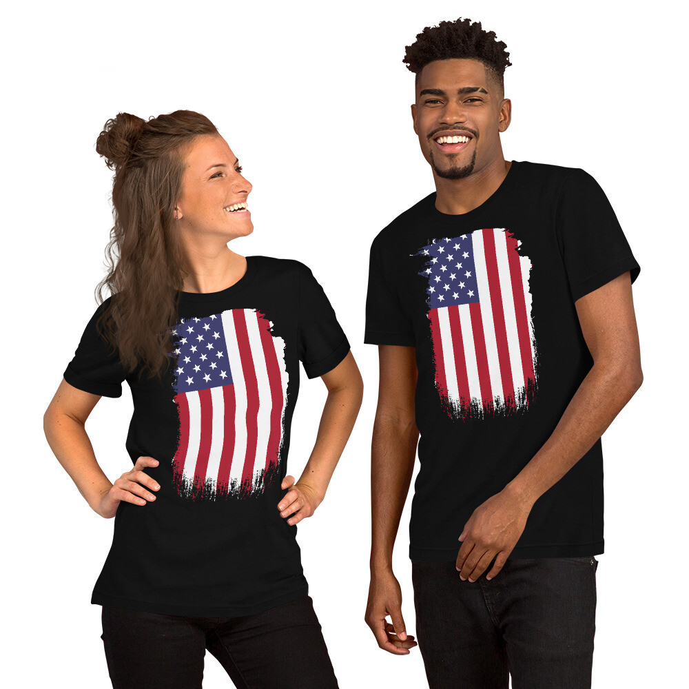 """Stand Up"" American Flag Unisex T-Shirt"