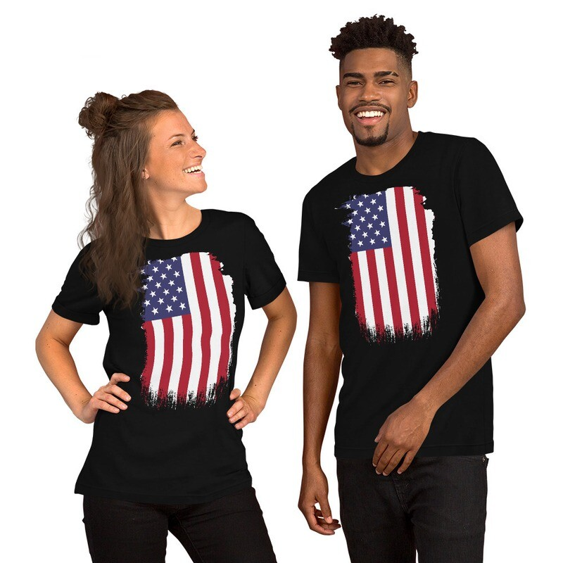 """""""Stand Up"""" American Flag Unisex T-Shirt"""