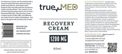 Recovery Cream 1200MG