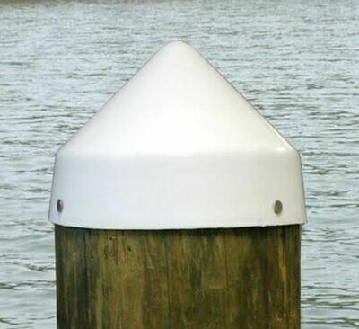 """Piling Cap, 9.5"""" Diameter Cone - WHITE"""
