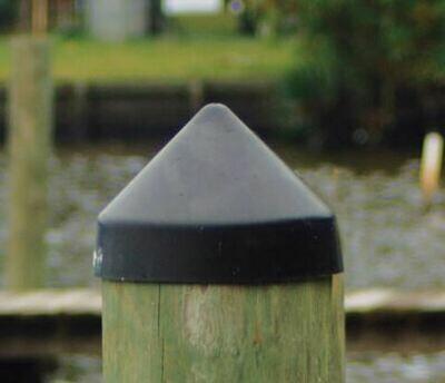 """Piling Cap, 9.5"""" Diameter Cone - BLACK"""