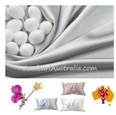 Jessicurl Silk Pillowcase white with black border
