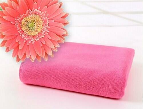 Microfibre Plunking Towel Dark Pink