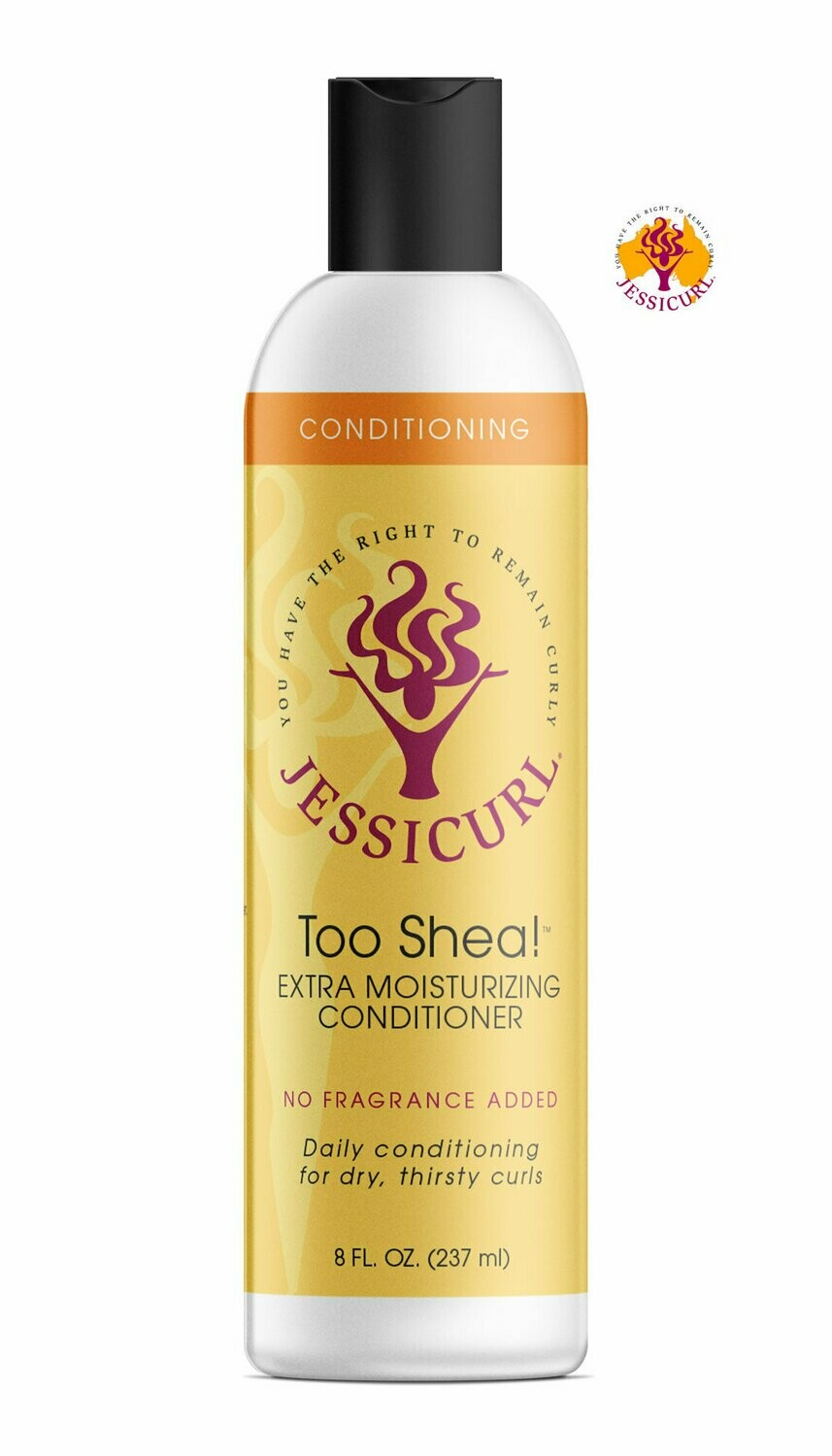 Jessicurl Too Shea! Extra Moisturising Conditioner 237ml No Fragrance Added