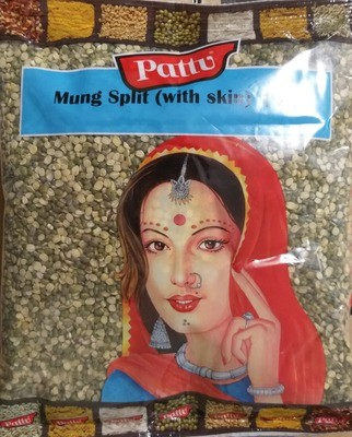 PATTU MUNG/MOONG DAL SPLIT (WITH SKIN) 1KG