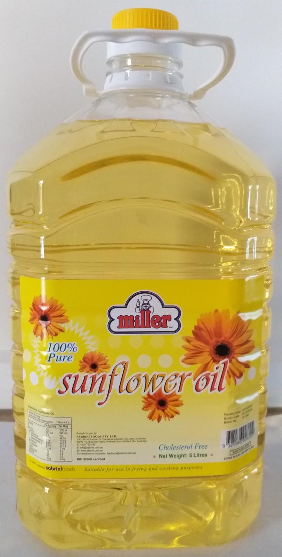 MILLER SUNFLOWER OIL 5LT