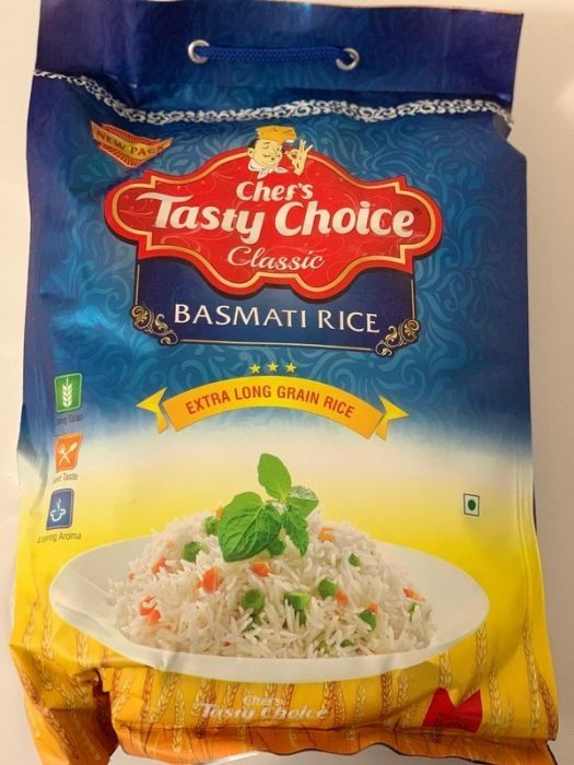CHEF'S TASTY CHOICE CLASSIC (EXTRA LONG GRAIN BASMATI RICE) 5KG