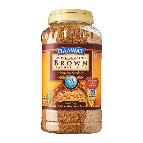DAWAAT BROWN BASMATI  5KG  JAR
