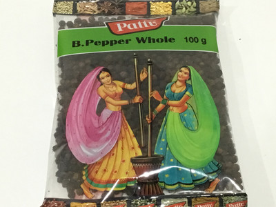 PATTU BLACK PEPPER (KALI MIRCH)  WHOLE 200 G