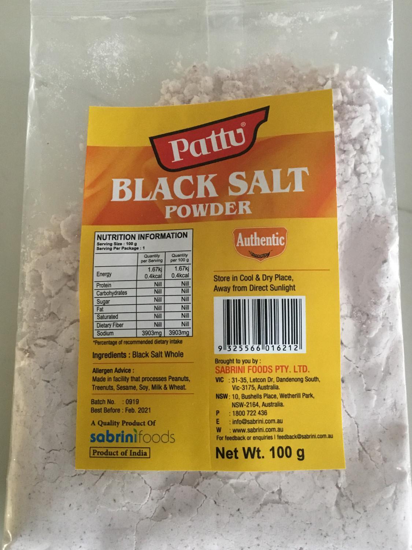 PATTU BLACK SALT POWDER 100G