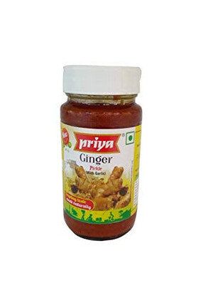 PRIYA GINGER PICKLE WITH GARLIC 300 G