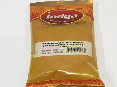 INDYA TURMERIC POWDER 200 GMS