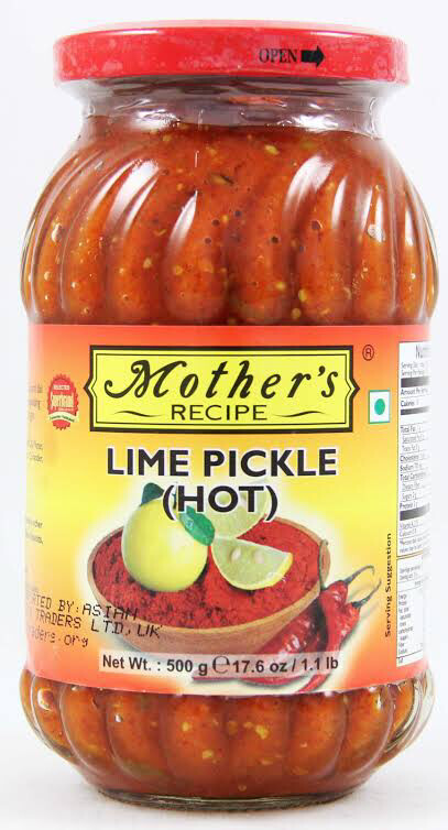 MOTHER'S LIME PICKLE( HOT) 500GMS