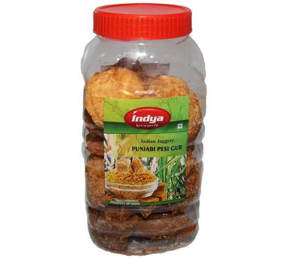 INDYA  PUNJABI PESI GUR (Natural Palm Sugar) 1 KG