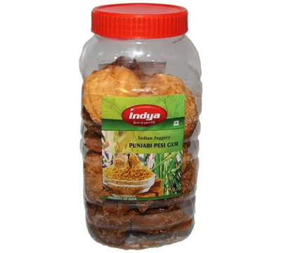 INDYA  PUNJABI PESI GUR (Natural Palm Sugar) 1 KG