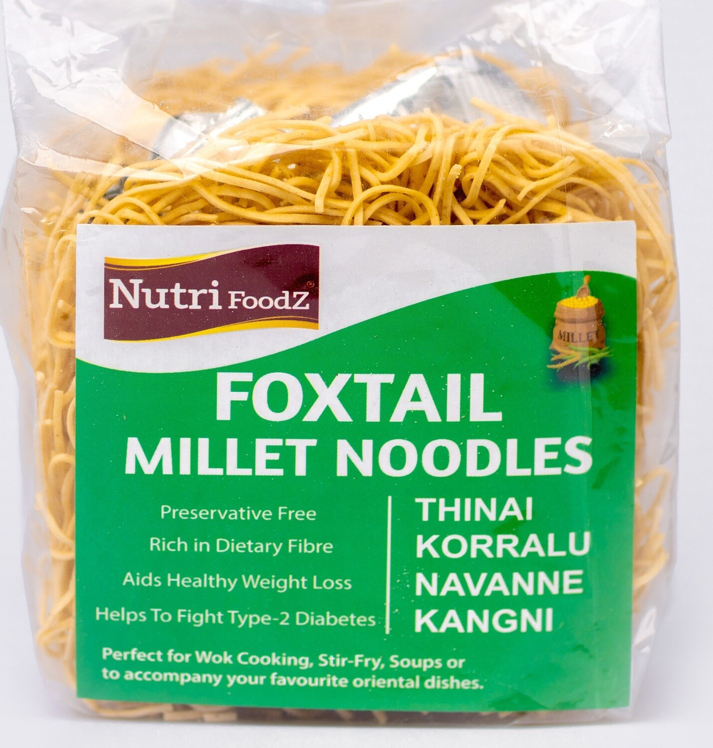 NUTRI FOODZ FOXTAIL MILLET NOODLES (Includes Taste Maker packet) 180 GMS