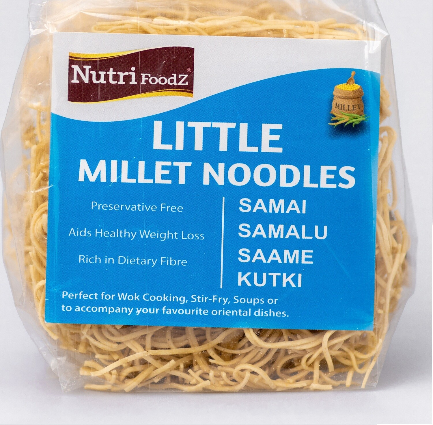 NUTRI FOODZ LITTLE MILLET NOODLES (Includes Taste Maker packet)