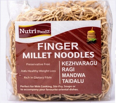 NUTRI FOODZ FINGER MILLET/RAGI NOODLES (Includes Masala packet) 180 GMS