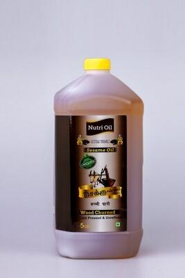 NUTRI FOODZ COLD PRESSED ORGANIC SESAME OIL 1 LTR