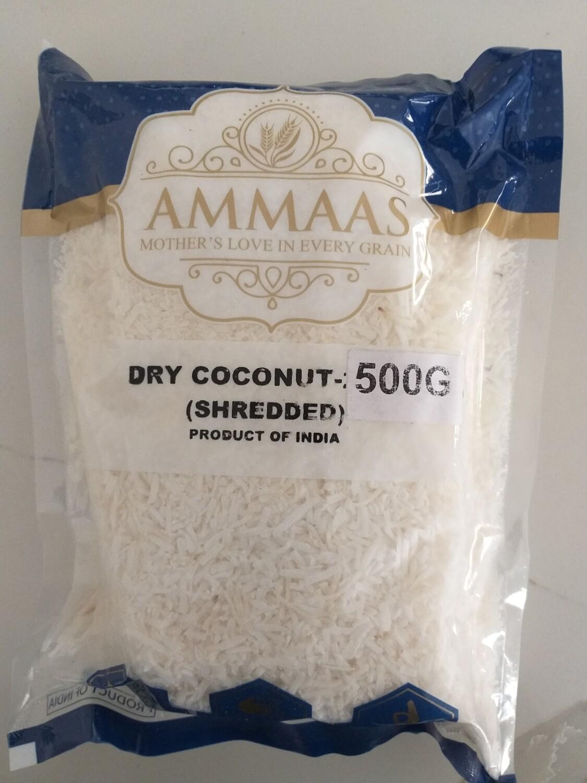 AMMMA'S DRY COCONUT SHREDDED 500 G