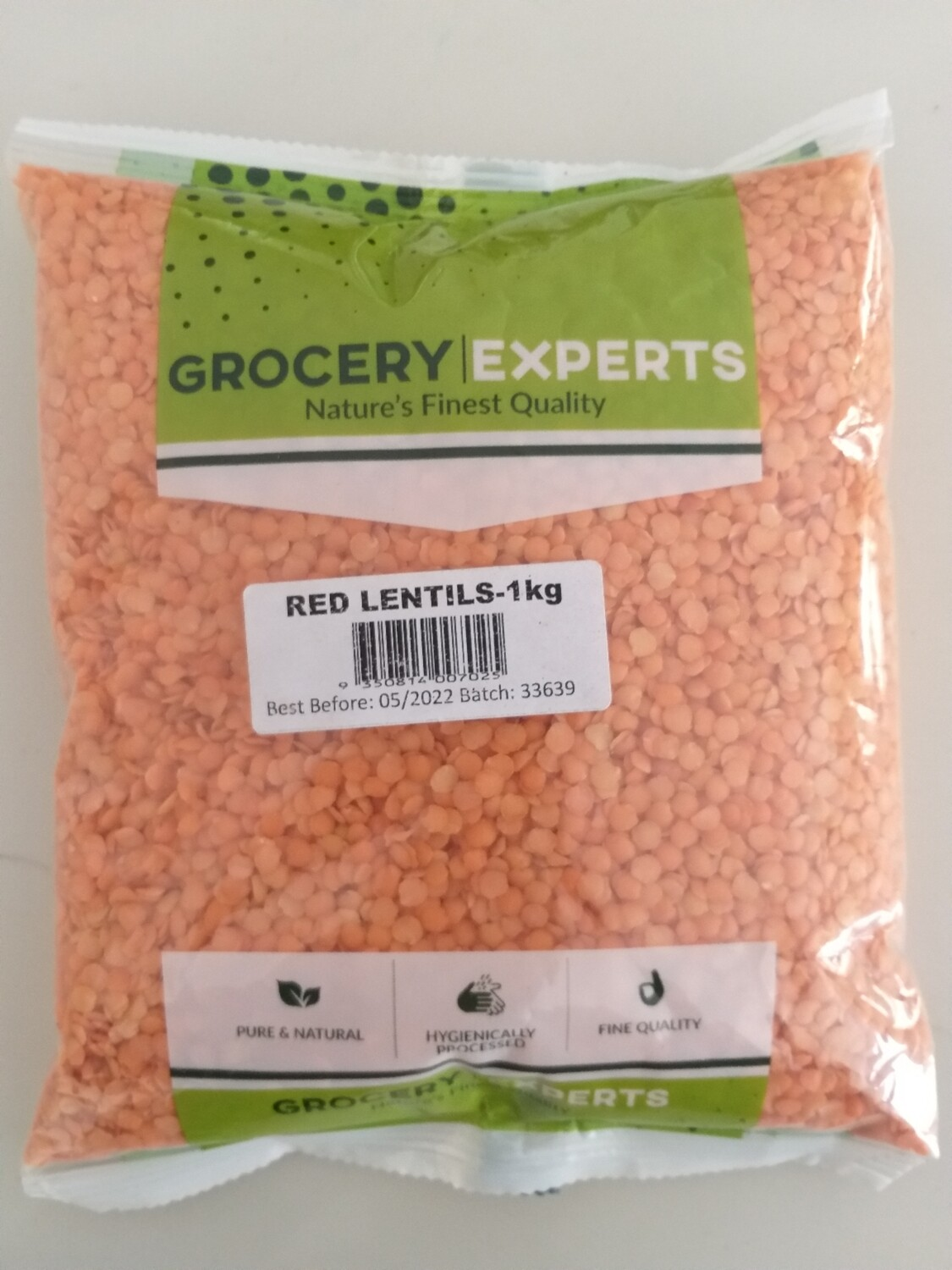 AMMA'S( GROCERY EXPERTS) MASOOR DAL SPLIT (RED LENTILS) 1KG