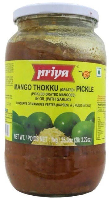 PRIYA MANGO THOKKU PICKLE  WITH GARLIC 1 KG