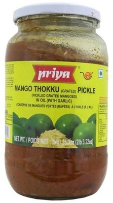 PRIYA MANGO THOKKU PICKLE  WITH GARLIC 1 KG