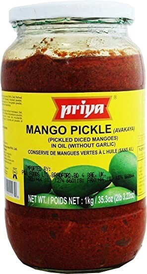 PRIYA MANGO AVAKAYA PICKLE WITH GARLIC 1 KG