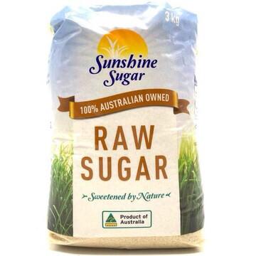 SUNSHINE RAW SUGAR 3 KGS