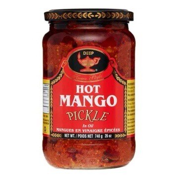 DEEP HOT MANGO PICKLE WITHOUT GARLIC 740 G