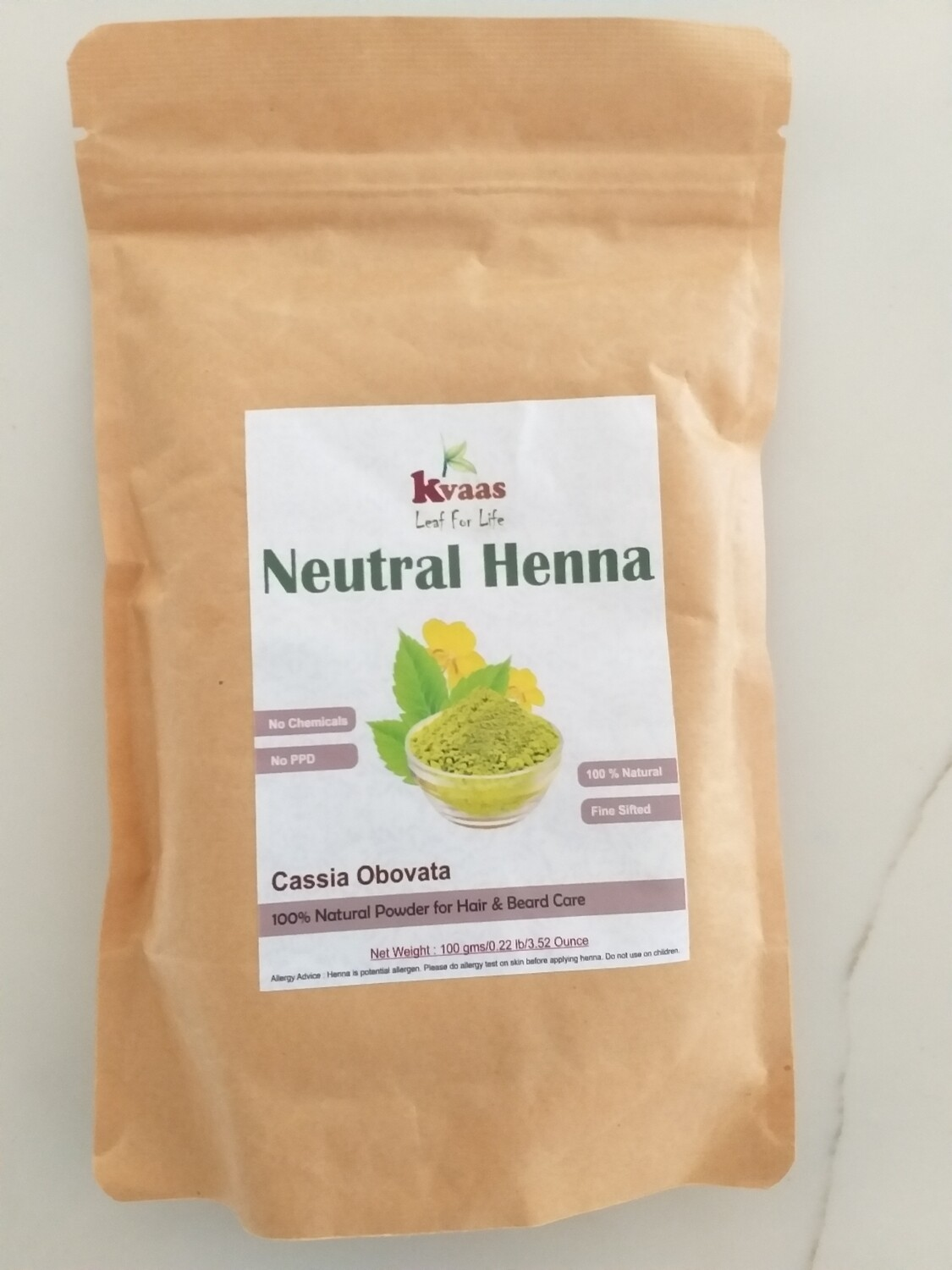 NEUTRAL HENNA 100 GMS 100% Chemical free