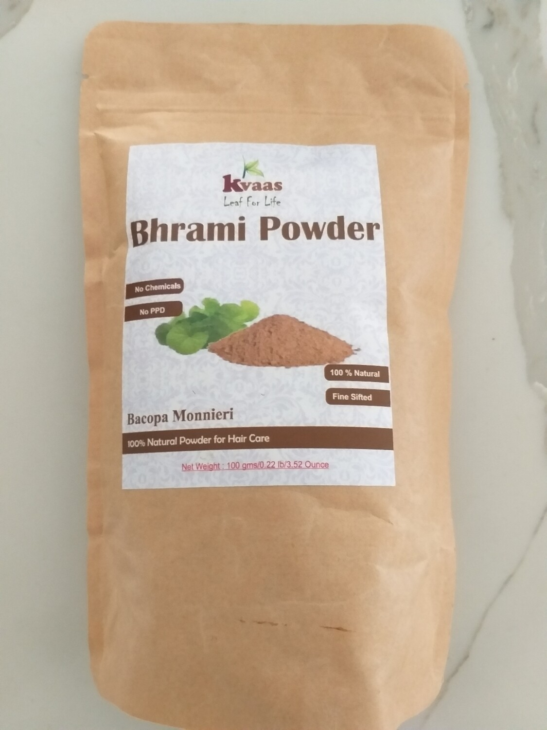 BHRAMI POWDER 100 GMS 100% Chemical Free