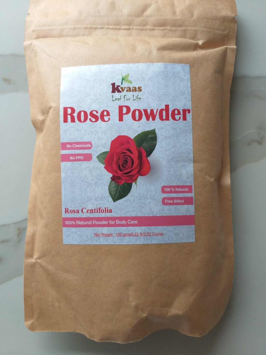ROSE POWDER 100 GMS 100% Chemical Free
