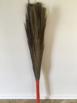 INDIAN BROOM THICK WITH PLASTIC HANDLE (INDOORS)