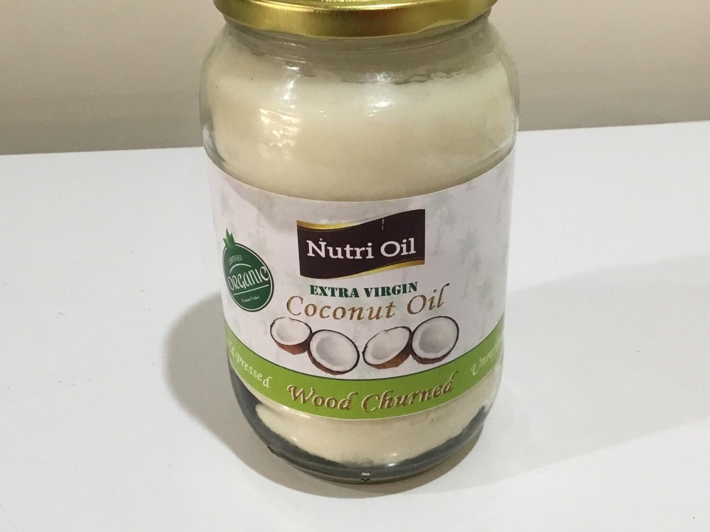 NUTRI OIL EXTRA VIRGIN COCONUT OIL ( WOOD CHURNED) 1 LTR